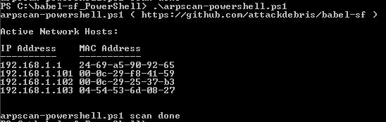 powershell-arpscan