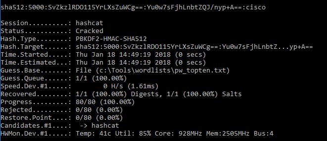 Cracking Cisco ASA SHA-512 Hashes with Hashcat – Attack Debris